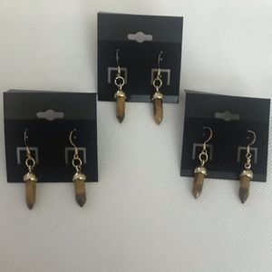 Brown Stones Earrings